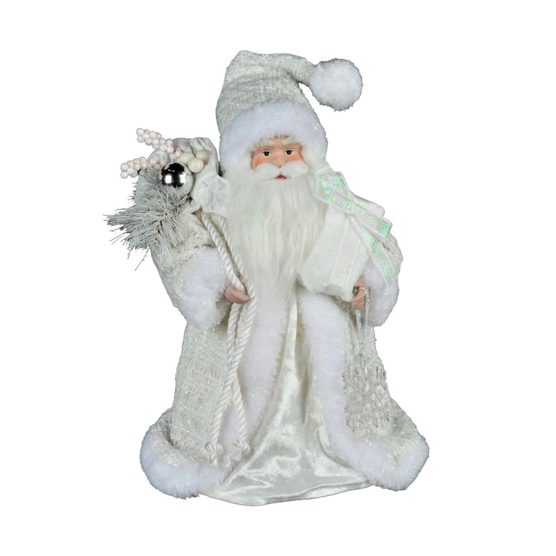 White Santa Tree Topper
