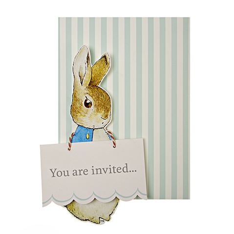 Meri Meri Peter Rabbit Invitations -  Stationary - Meri Meri UK - Putti Fine Furnishings Toronto Canada - 1