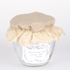 Miss Rose Sister Violet Linen Lace Jam Jar Cover, MRSV-Miss Rose Sister Violet, Putti Fine Furnishings