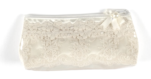 Miss Rose Sister Violet Cream Coated Lace Washbag, MRSV-Miss Rose Sister Violet, Putti Fine Furnishings