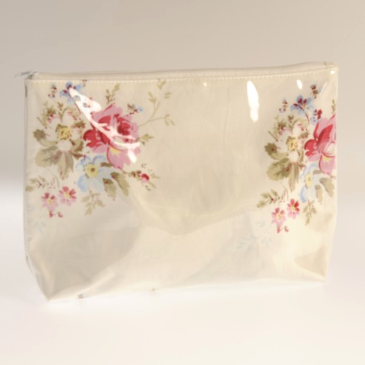 Miss Rose Sister Violet Spring Posy Zippered Bag, MRSV-Miss Rose Sister Violet, Putti Fine Furnishings