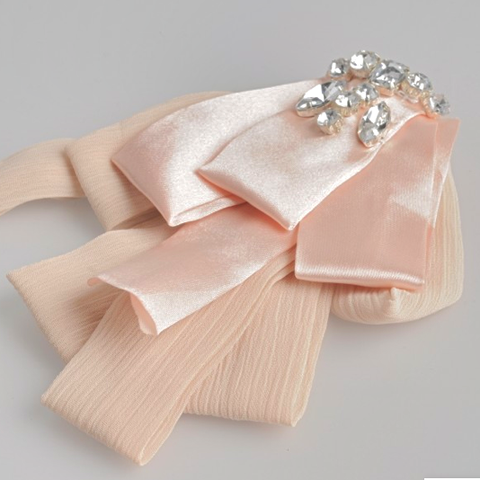 Miss Rose Sister Violet Pink Satin Diamante Brooch-Accessories-Miss Rose Sister Violet-Putti Fine Furnishings