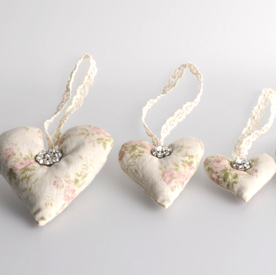 Miss Rose Sister Violet Lavender Heart Sachet, MRSV-Miss Rose Sister Violet, Putti Fine Furnishings