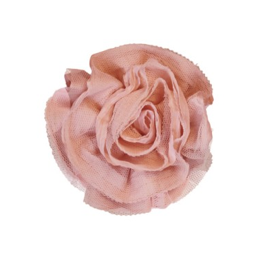 Miss Rose Sister Violet Ruffle Flower Pin PInk