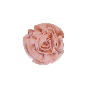 Miss Rose Sister Violet Ruffle Flower Pin PInk-Accessories-Miss Rose Sister Violet-Pink Small-Putti Fine Furnishings
