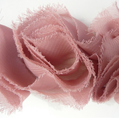 Miss Rose Sister Violet Small Ruffle Dusty Rose Braid, MRSV-Miss Rose Sister Violet, Putti Fine Furnishings