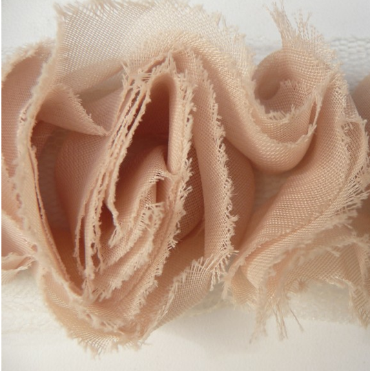 Miss Rose Sister Violet Small Ruffle Rose Braid Antique Beige, MRSV-Miss Rose Sister Violet, Putti Fine Furnishings