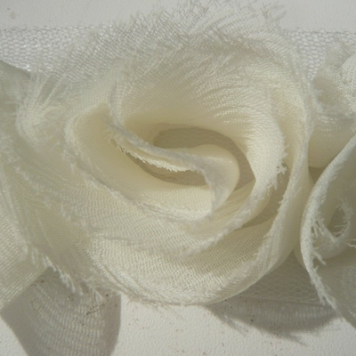 Miss Rose Sister Violet Small Ruffle Rose Braid Ivory, MRSV-Miss Rose Sister Violet, Putti Fine Furnishings