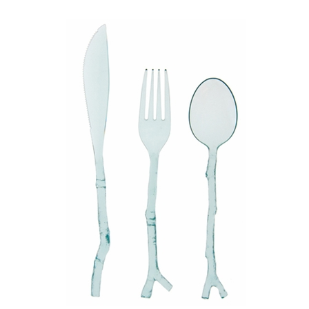 Michael Aram Twig Cutlery - Translucent Aqua, CC-MH-Creative Converting - Madhouse, Putti Fine Furnishings