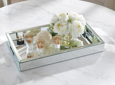 Rectangular Mirror Tray -  Tray - Abbot Collection - Putti Fine Furnishings Toronto Canada - 1