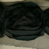 Miss Rose Sister Violet Large Ruffle Rose Braid Black-Trim-Miss Rose Sister Violet-Black per yard-Putti Fine Furnishings