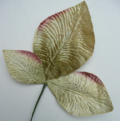 Miss Rose Sister Violet Velvet Leaves - Pale Ivory Green, MRSV-Miss Rose Sister Violet, Putti Fine Furnishings
