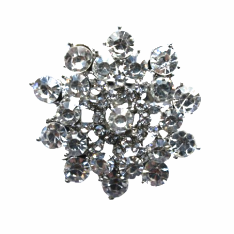 Miss Rose Sister Violet Vintage Style Diamante Broach - Round, MRSV-Miss Rose Sister Violet, Putti Fine Furnishings