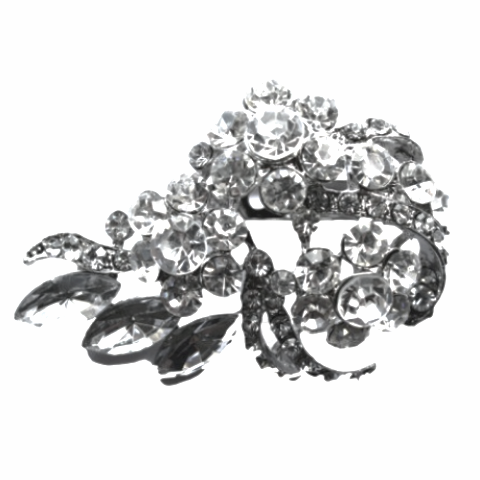 Miss Rose Sister Violet Vintage Style Diamante Broach - Large Flower Cluster, MRSV-Miss Rose Sister Violet, Putti Fine Furnishings