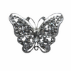 Miss Rose Sister Violet Vintage Style Diamante Brooch - Butterfly, MRSV-Miss Rose Sister Violet, Putti Fine Furnishings