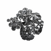 Miss Rose Sister Violet Vintage Style Diamante Broach - Medium Flower Cluster, MRSV-Miss Rose Sister Violet, Putti Fine Furnishings