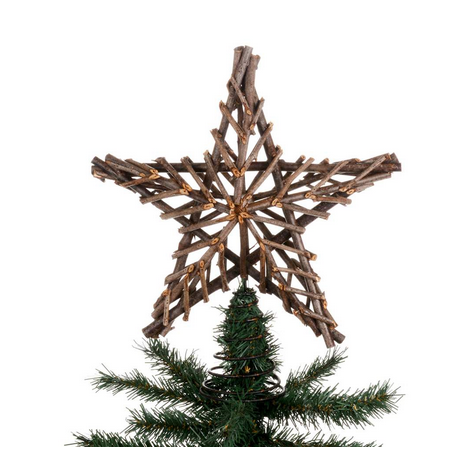 Twig Star Tree Topper, CT-Christmas Tradition, Putti Fine Furnishings