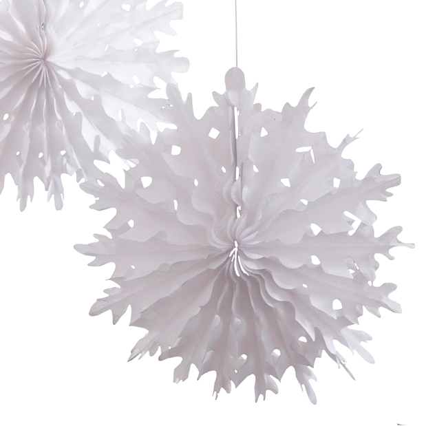 White Die Cut Paper Snowflakes, TT-Talking Tables, Putti Fine Furnishings