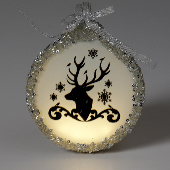 Deer Head Ornament with Light
