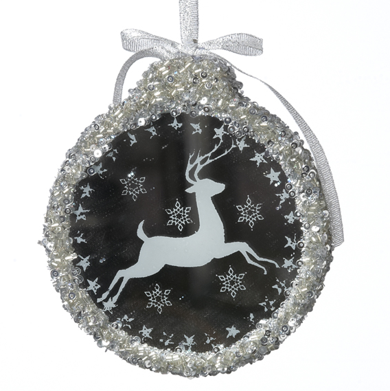 Prancing Deer Ornament with Light