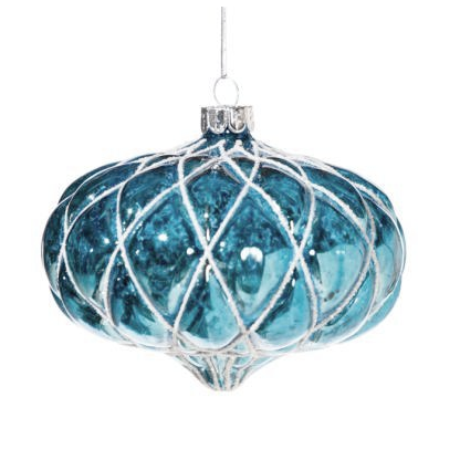 Turquoise Moulded Onion Shaped Ornament, FDI-Floridus Design Images, Putti Fine Furnishings