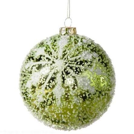 Green Ornament with Snowflake