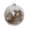 Clear Glass Ornament with Twigs, FDI-Floridus Design Images, Putti Fine Furnishings