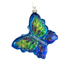 Blue Green Glass Butterfly, CT-Christmas Tradition, Putti Fine Furnishings