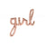 "Rose Gold Foil ""Girl"" Script Balloon"