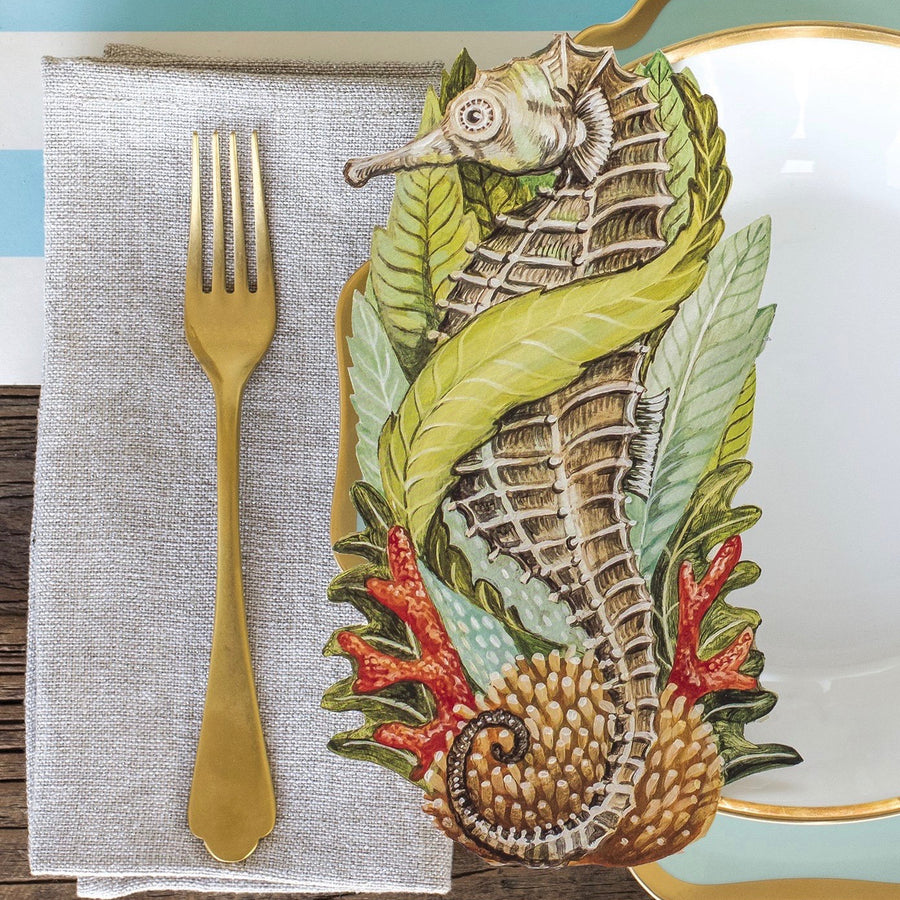 Hester & Cook Die-Cut Seahorse Table Accent
