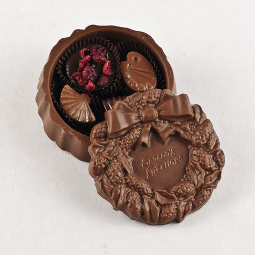 Christmas Chocolate Wreath Box, The Chocolate Factory, Putti Fine Furnishings