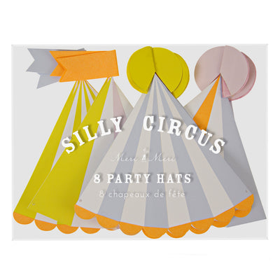 Silly Circus - Party Hats -  Party Supplies - Meri Meri UK - Putti Fine Furnishings Toronto Canada - 2