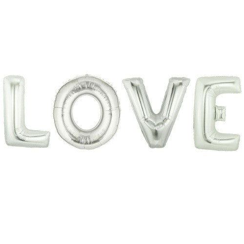 "Silver Foil ""Love"" Balloon Banner, SE-Surprize Enterprize, Putti Fine Furnishings"