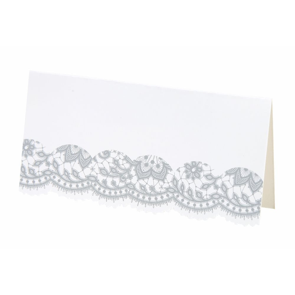 Party Porcelain Silver Place Cards -  Party Supplies - Talking Tables - Putti Fine Furnishings Toronto Canada