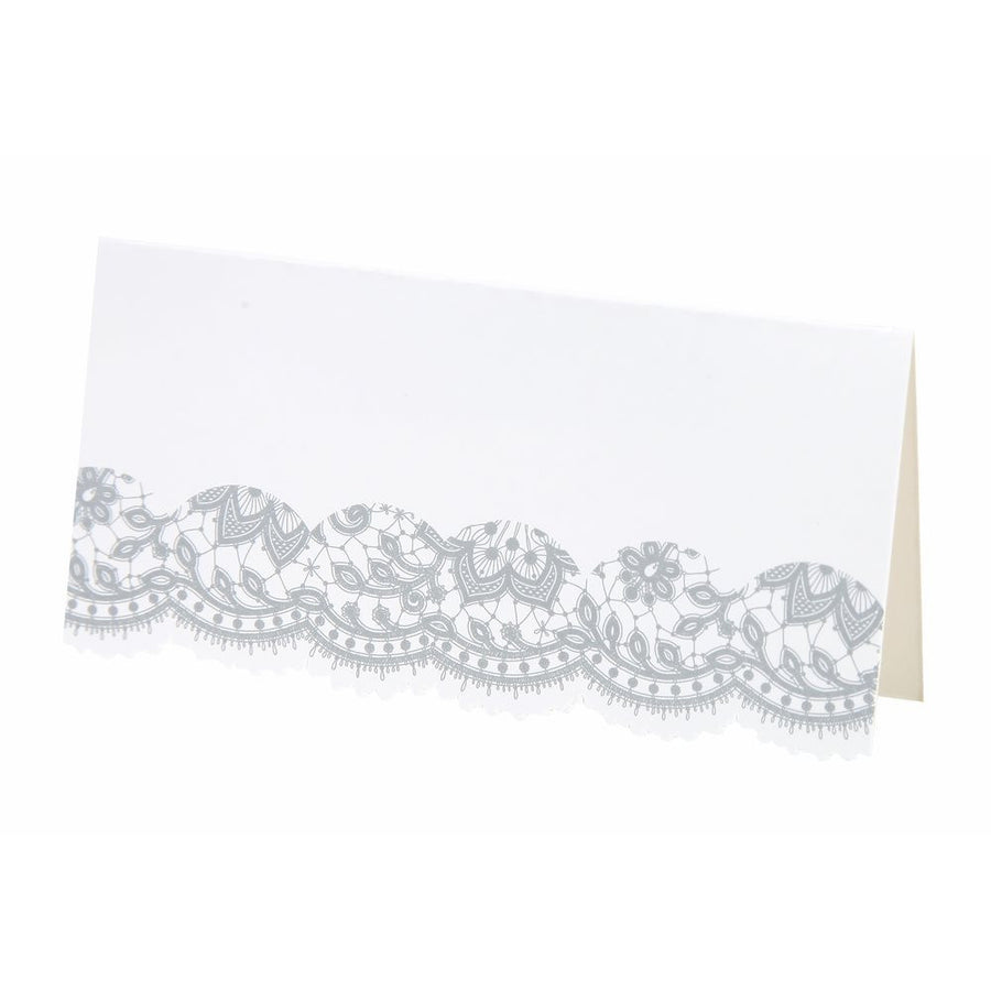 Party Porcelain Silver Place Cards