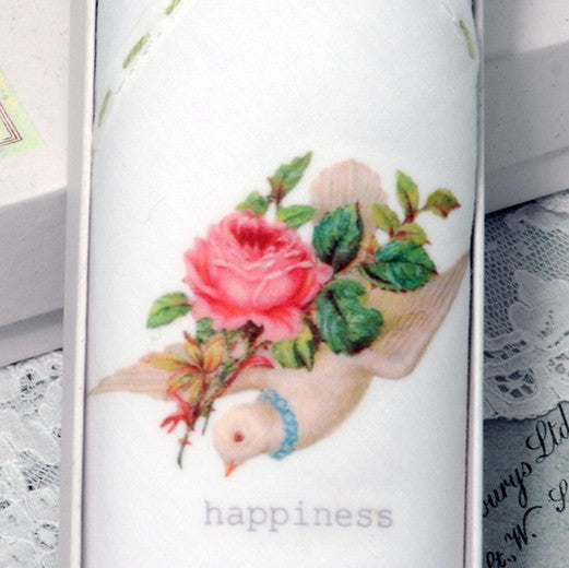 "Tamielle ""Happiness"" Embroidered Hanki, Tamielle, Putti Fine Furnishings"