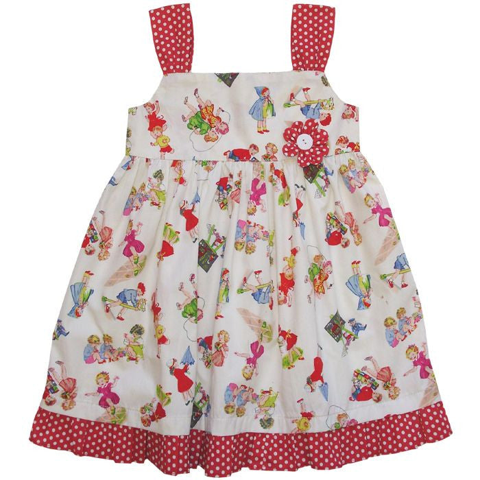 """Rebecca"" Retro Dress-Children's Clothing-PC-Powell Craft Uk-1 to 2 years-Putti Fine Furnishings"
