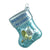"Glass ""Baby's First Christmas"" Stocking Ornament - Blue"