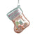 "Glass ""Baby's First Christmas"" Stocking Ornament - Pink"