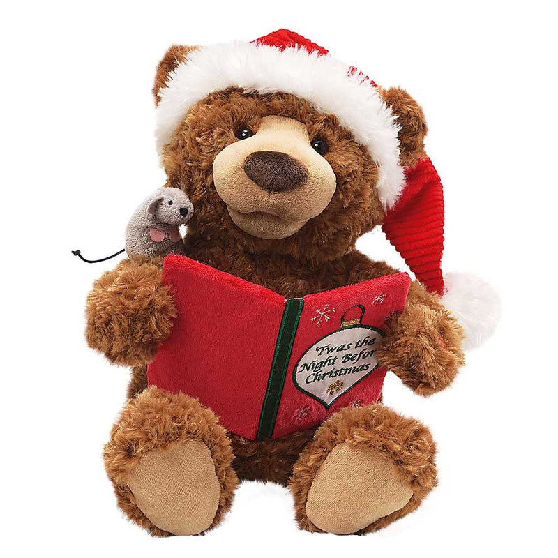 "Talking ""Twas the Night Before Christmas"" Teddy Bear, Gund, Putti Fine Furnishings"