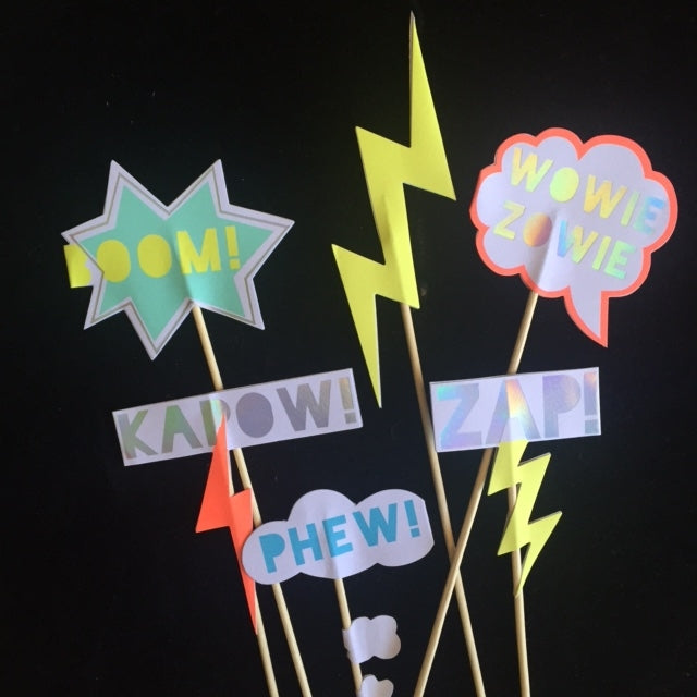 "Superhero ""Zap"" Cake Toppers, MM-Meri Meri UK, Putti Fine Furnishings"