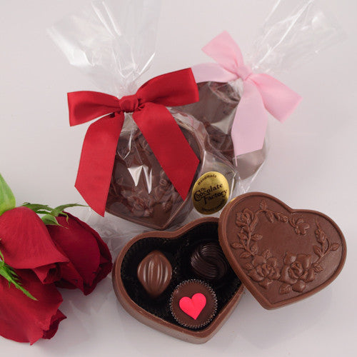 "Valentine ""Sweetheart"" Chocolate Heart Box"