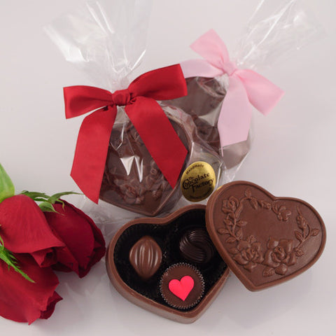 "Valentine ""Sweetheart"" Chocolate Heart Box-Chocolates-TCF-The Chocolate Factory-Sweetheart Chocolate Box-Putti Fine Furnishings"