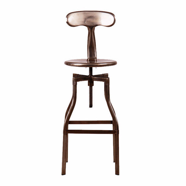 """Swirl"" Stool with Back, SIF-Style in Form, Putti Fine Furnishings"