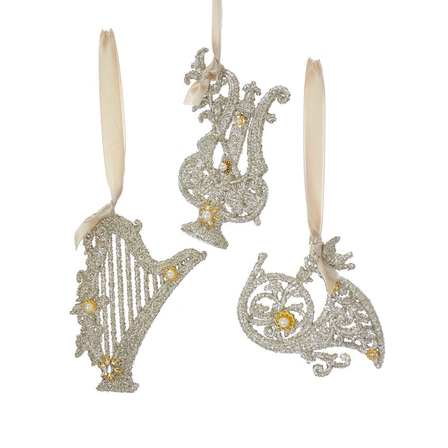 Vintage Glamour Musical Instruments Ornament