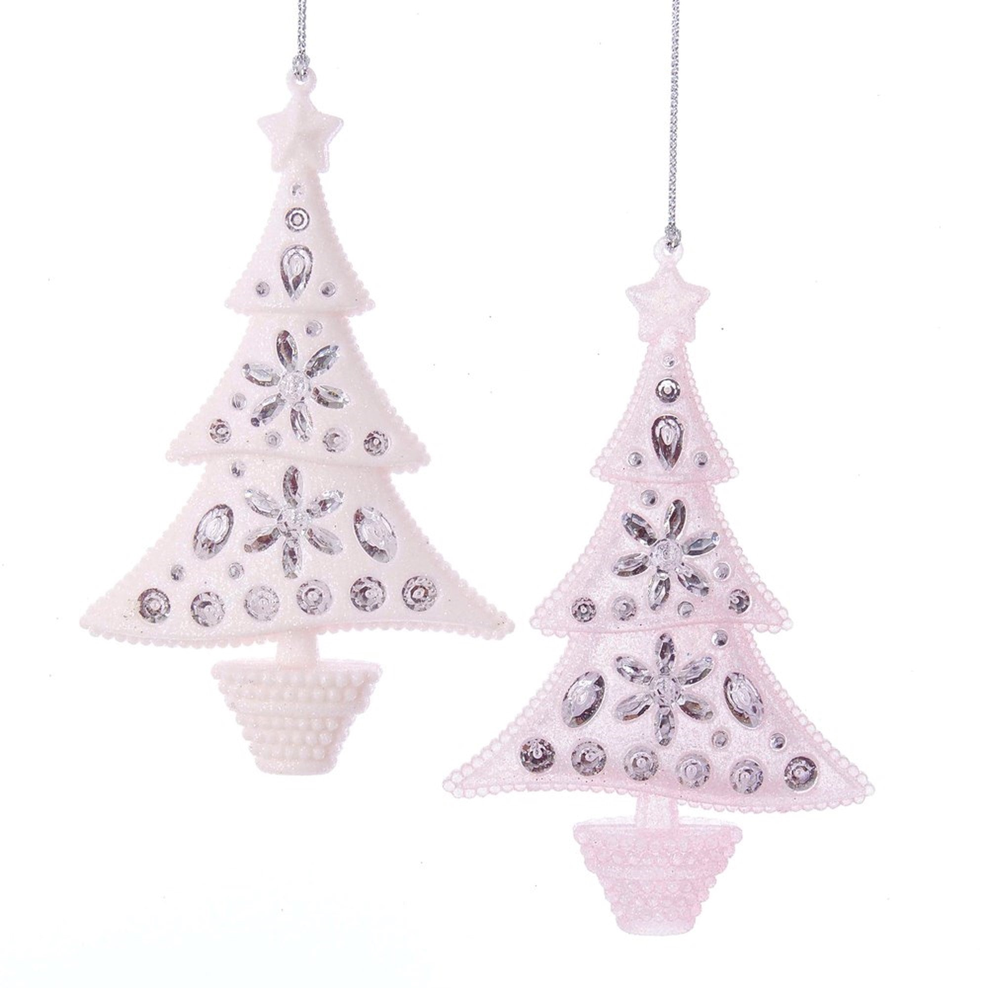 Kurt Adler Pink Glitter Tree Ornament | Putti Christmas