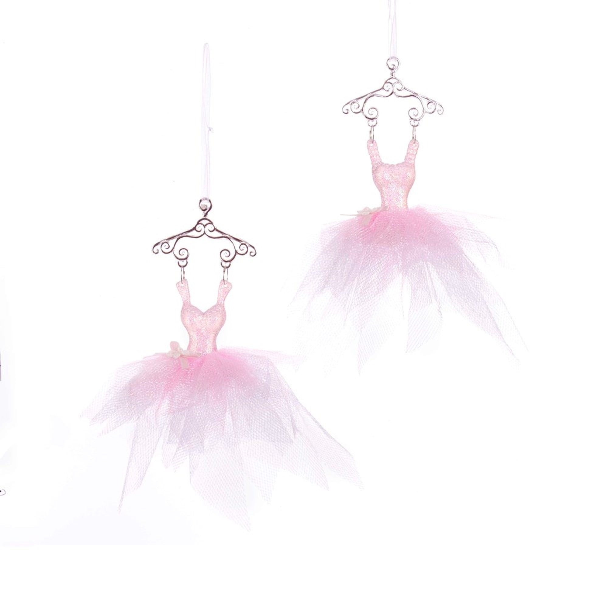 Kurt Adler Pink Ballet Dress Ornaments | Putti Christmas
