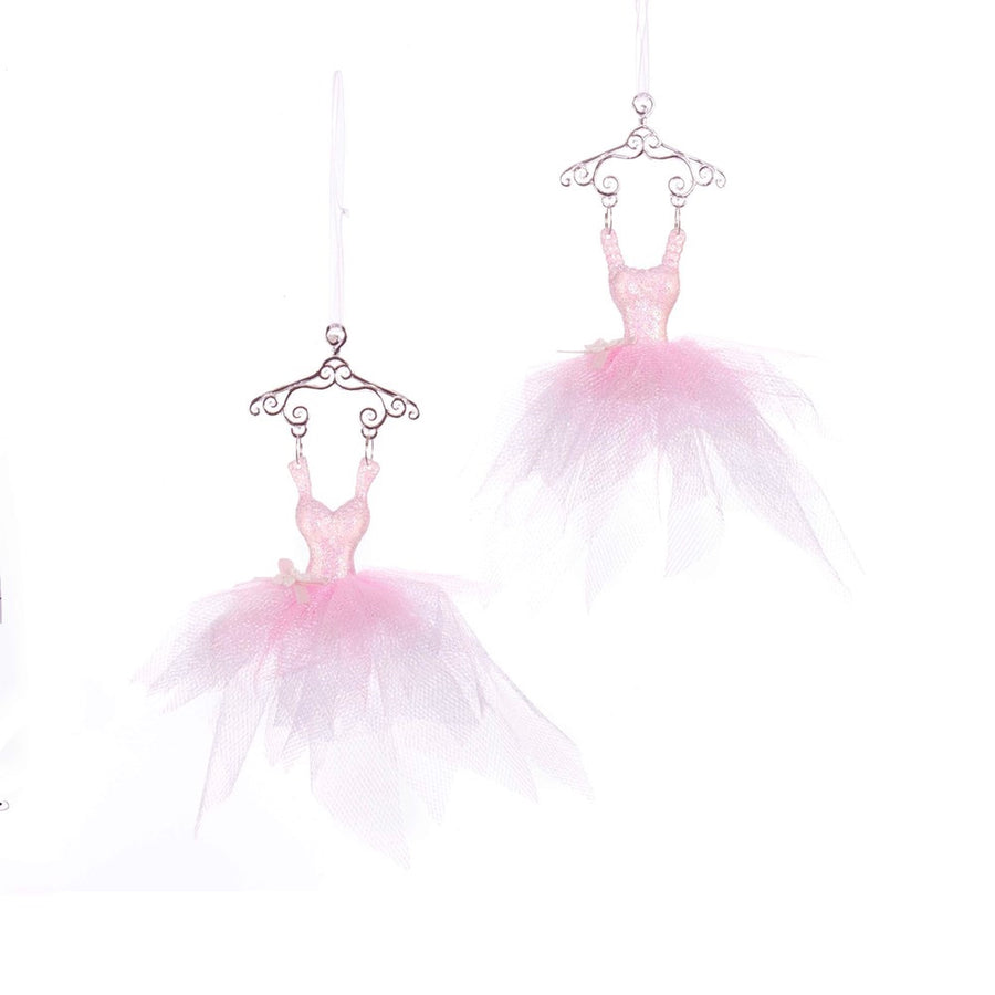 Kurt Adler Pink Ballet Dress Ornaments