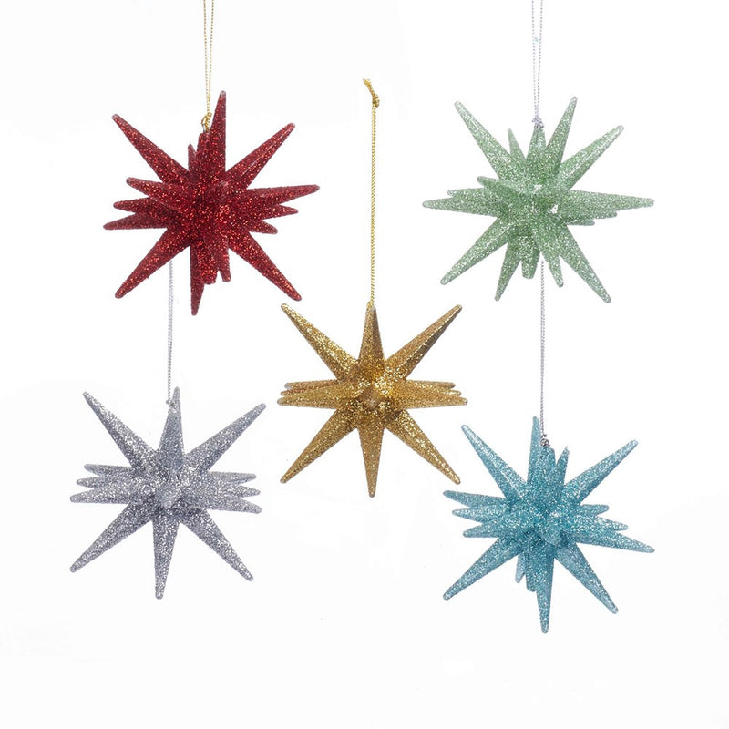 Kurt Adler Glittered Starburst Ornament - Putti Christmas