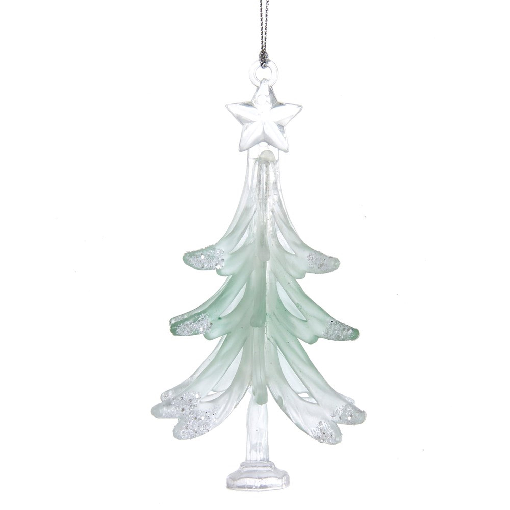 Kurt Adler Sage Green and Green Tree Ornament | Putti Celebrations